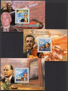 Guinea 2011 Fifth French Republic/Concorde/De Gaulle/Presidents 6 S/S Perf.MNH