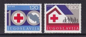 Yugoslavia   #1273-1274   MNH   1975  red cross