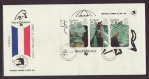 Kiribati 527 Philexfrance 1989 U/A FDC