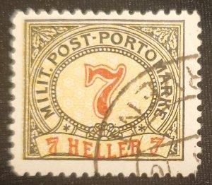 Bosnia, J7, Postage Due, 1904. Cat. value - $4.25