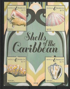 Antigua & Barbuda MNH S/S Shells Of The Caribbean 2011