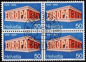 Switzerland. 1969 50c(Block of 4). S.G.773 Fine Used