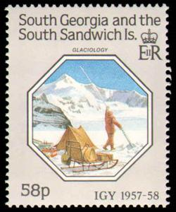 SOUTH GEORGIA #124-126 COMPLETE SET MINT NEVER HINGED