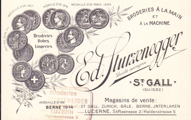 Switzerland Post Card  Salesman's Advertising for Lingeries etc.  Mint VF