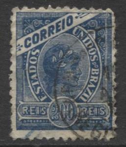 Brazil - Scott 161 - Definitive Issue -1900 - Used - Single 100r Stamp
