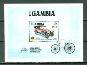 GAMBIA OLD CARS #628  SOUV. SHEET...MNH...$6.50