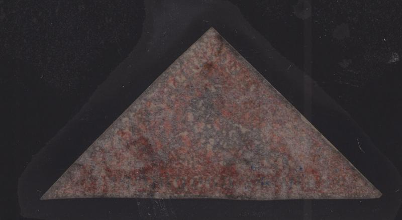Cape of Good Hope Sc 3c used 1857 1p rose Triangular, Watermark Sideways XF