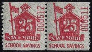 Scarce 25c Savemore School Savings Cinderella Stamp for Schermack Machine MNH