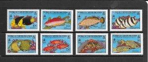 FISH - TURKS AND CAICOS #836-43  MNH