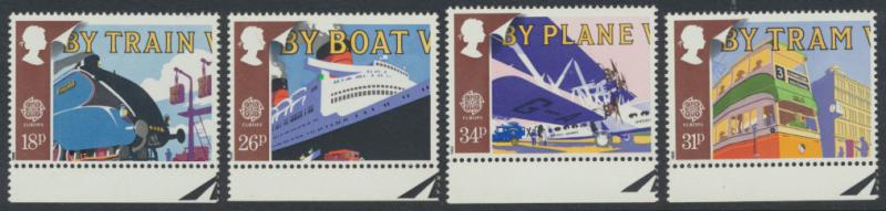 GB SG 1392 - 1395  SC# 1213-1216  MNH  - Europa Transport and Mail Services
