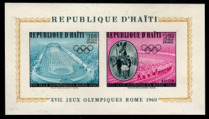 Haiti - Mint Souvenir Sheet Scott #C165a (Olympic Games)