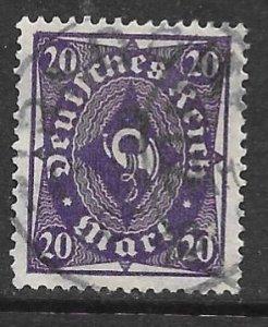 Germany 191: 20m Posthorn, used, F-VF