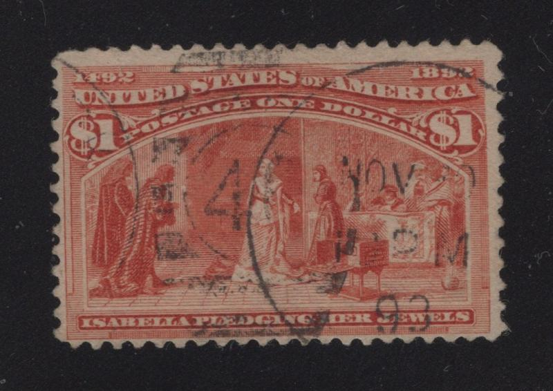 US#241 Salmon - $1.00 Columbian Exposition Issue - !893 Cancel