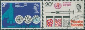 Pitcairn Islands 1968 SG92-93 WHO set FU