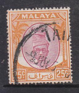 Malaya Perak 1950 Sc 114 25c Used