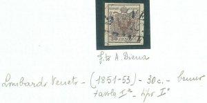 74315 - ANTICHI STATI:  Lombardo Veneto  - Sassone  7 bruno   - A DIENA