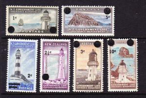 NEW ZEALAND 1967  GOVT LIFE SET 6 MLH