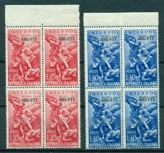 Trieste #207-208  Blocks of 4  Mint  VF NH  Scott $16.00 ...