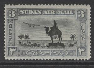 SUDAN SG54 1931 3p BLACK & GREY p14 MTD MINT