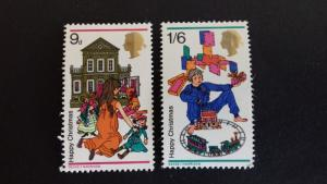 Great Britain 1968 Christmas Stamps Mint