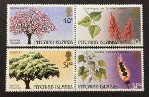 Pitcairn Islands 1987 #289-90 Pairs, Trees, MNH.