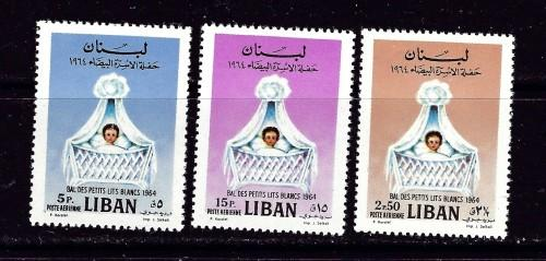 Lebanon C408-10 Hinged 1964 partial set