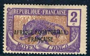 Middle Congo; 1924: Sc. # 24; */MH Single Stamp