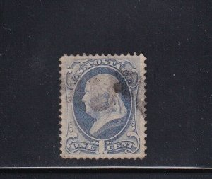 134 VF+ used neat light cancel with nice color cv $ 200 ! see pic !