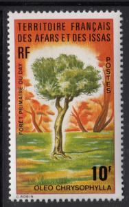 Afars & Issas 1974 MNH Scott #376 10fr Oleo chrysophylla