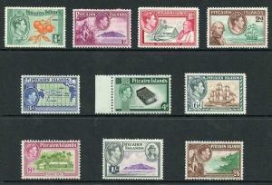 Pitcairn Islands SG1/8 KGVI Set of 10 M/Mint (hinge remainders)