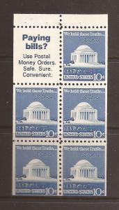 United States scott #1510b Booklet Pane m/nh stock #N4642