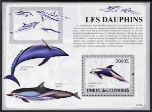 Comoro Islands MNH S/S Dolphins Marine Life 2009