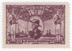 (I.B) US Cinderella : US Naval Reserve Scholarship Fund 10c (Camp Dewey)