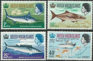Virgin Islands # 186-89 Record Game Fish  (4)  Mint NH