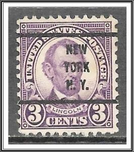 US Precancel #635-63 New York NY Used