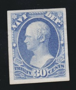 US O44P3 30c Navy Department Official Proof on India Paper VF-XF SCV $20
