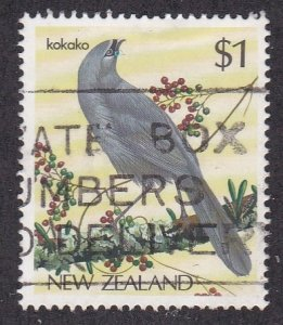 New Zealand # 768, Native Birds - Kokako, Used, 1/3 Cat.