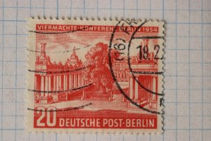 Germany sc#9N103 used 20 Berlin Post 1954