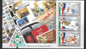 Norfolk Islands  #346a AUSIPEX '84 S/S (MNH)  CV $6.00
