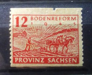 Germany Provinz Sachsen 86 C perforation mnh