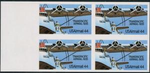 #C115a TRANSPACIFIC AIRMAIL 1935 BLOCK OF 4 IMPERF ERROR CV $2,700 WLM1518