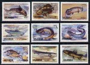 Uganda 1985 Fish set of 9 values only, unmounted mint SG ...