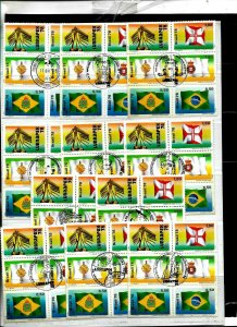 #1001 BRASIL BRAZIL1978 FLAGS LUBRAPEX 11 SETS WITH 11 DIFF SPECIAL PMARKS