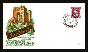 Ireland 1960 St Patricks Day Cover / Staehle Cachet - Z16940