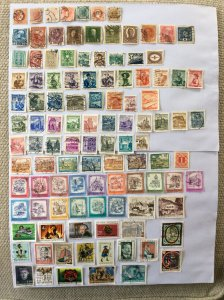 Austrian 100+ stamps - Lot D
