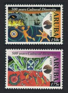 Aruba Columbus 500 Years of Cultural Diversity 2v SG#244-245