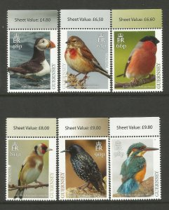 Guernsey 2019 MNH National Birds Europa Kingfishers Puffins 6v Set of Stamps