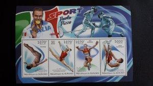 Burundi 2012. - Sport 1 ** MNH Souvenir sheet (perforated)