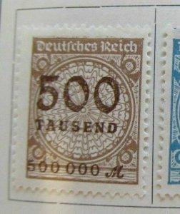 A8P49F24 Deutsches Reich Allemagne Germany 1923 500 fine used stamp