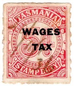 (I.B) Australia - Tasmania Revenue : Wages Tax 5d (1936)